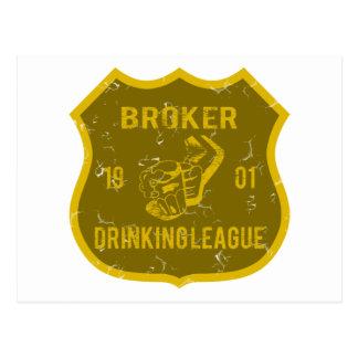 Broker Drinking League Postcard
