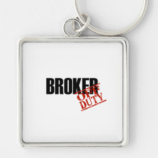 BROKER LIGHT Silver-Colored SQUARE KEYCHAIN