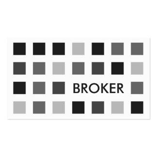 BROKER (mod squares) Business Card