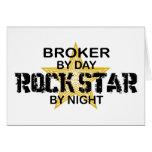 Broker Rock Star by Night Greeting Card