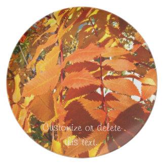 BROL Bright Orange Leaves Dinner Plate