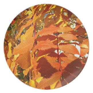 BROL Bright Orange Leaves Plate