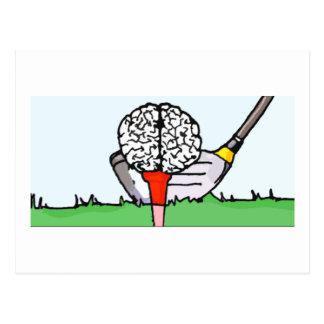 Brolf: Brain Golf! Postcard