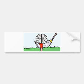 Brolf: ¡Golf del cerebro! Pegatina De Parachoque