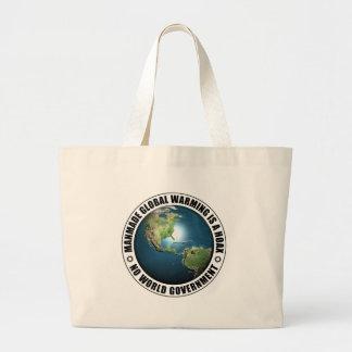 Broma artificial del calentamiento del planeta bolsa de mano