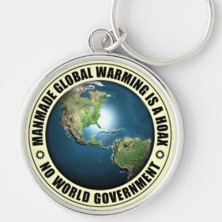 Broma artificial del calentamiento del planeta llavero personalizado