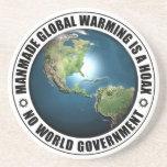 Broma artificial del calentamiento del planeta posavasos diseño