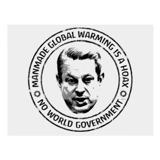 Broma artificial del calentamiento del planeta tarjeta postal