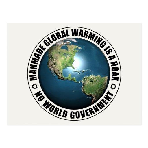 Broma artificial del calentamiento del planeta tarjetas postales