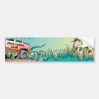 Broma de la rana del pantano pegatina de parachoque