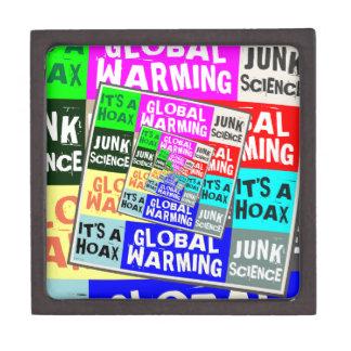 Broma del calentamiento del planeta caja de regalo de calidad