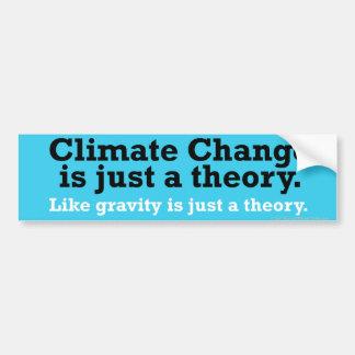 Broma del cambio de clima etiqueta de parachoque