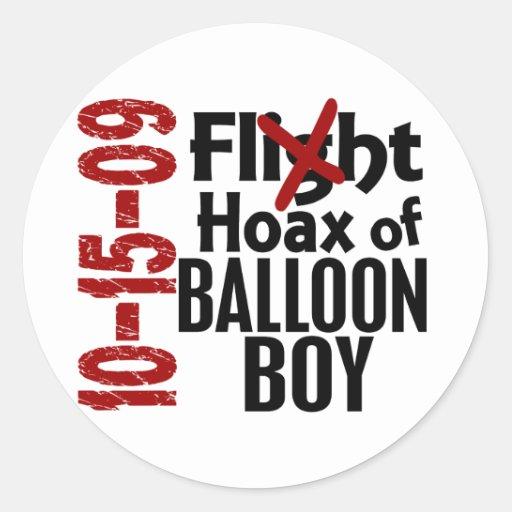 Broma del muchacho del globo pegatinas redondas