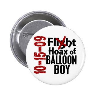 Broma del muchacho del globo pin redondo de 2 pulgadas