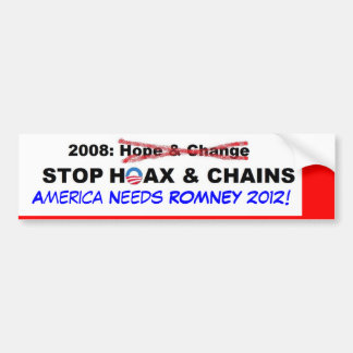 Broma y cadenas antis de Obama Pegatina Para Auto