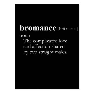 BROMANCE (definición) Tarjeta Postal