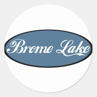 Brome Lake Souvenir Blue Classic Round Sticker