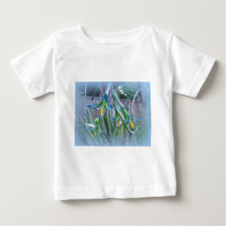 Bromeliad Blossoms on Blue Baby T-Shirt