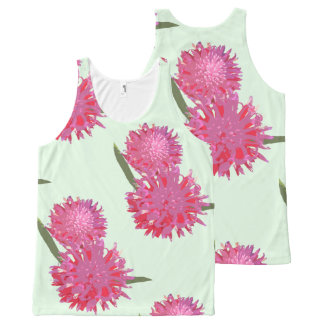Bromeliad floral pattern All-Over-Print tank top