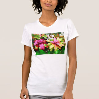 Bromeliad, Oil painting, Tropical Collection T-shirt
