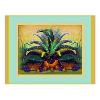 Bromeliad Pkant con la pintura de la fruta por Sha Tarjeta Postal