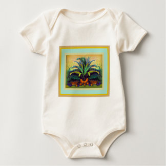 Bromeliad Pkant  with Fruit painting by Sharles Baby Bodysuit