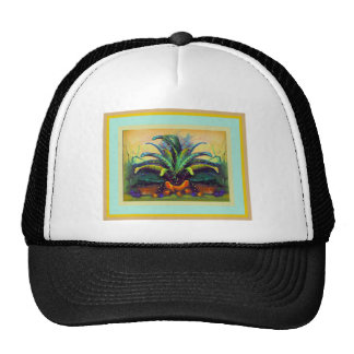Bromeliad Pkant  with Fruit painting by Sharles Trucker Hat