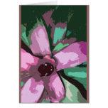Bromeliad tropical colorido tarjeta