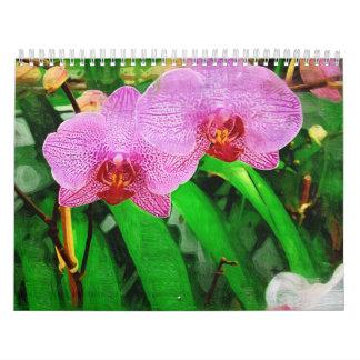 bromeliad y orquídeas tropicales, Fairchild g Calendario