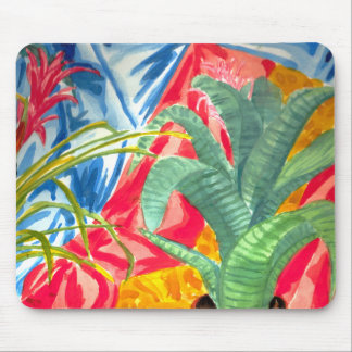 Bromeliads colorful still life mouse pad