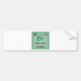 Bromine Individual Element of the Periodic Table Bumper Stickers