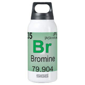 Bromine Individual Element of the Periodic Table Insulated Water Bottle