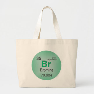 Bromine Individual Element of the Periodic Table Large Tote Bag