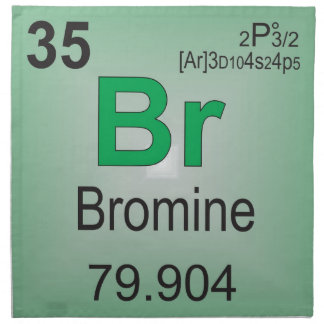 Bromine Individual Element of the Periodic Table Napkin