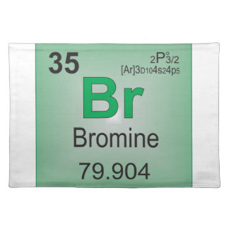 Bromine Individual Element of the Periodic Table Placemat