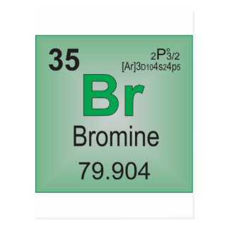 Bromine Individual Element of the Periodic Table Postcard
