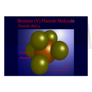 Bromine (V) Fluoride Molecule (card) Greeting Card