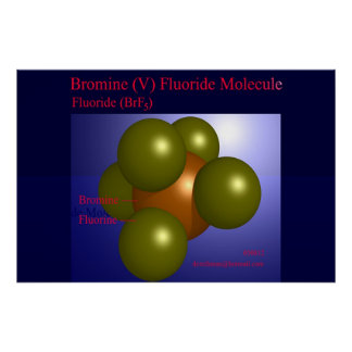 Bromine (V) Fluoride Molecule (print) Poster