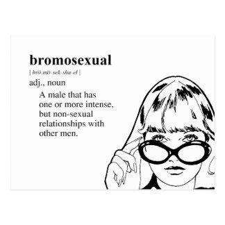 BROMOSEXUAL POSTCARD