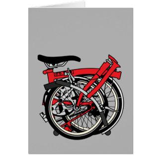 Brompton Bicycle Folded Card