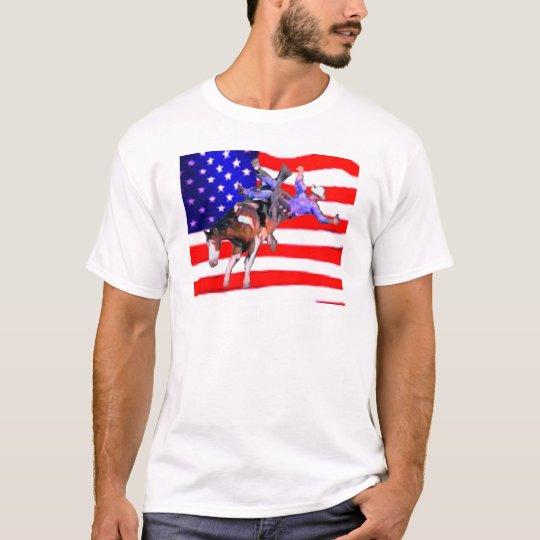 Bronc/Flag T-Shirt
