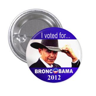 Bronc Obama Button