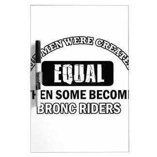 Bronc Rider Job designs Dry Erase Board