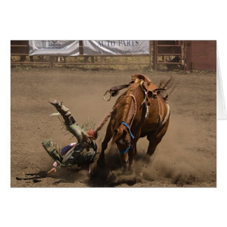 Bronc Rider Takes a Fall Greeting Card