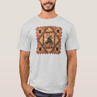 Bronc Rider Western Mens T-shirt