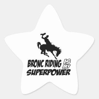 bronc riding my superpower star sticker
