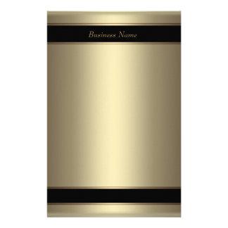 Bronce beige del negro del metal de los efectos de papeleria de diseño