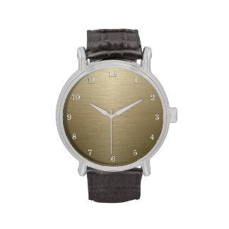 Bronce cepillado relojes de mano