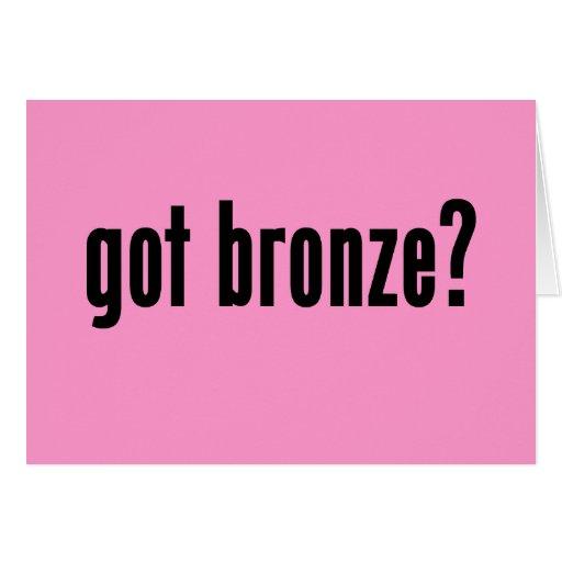¿bronce conseguido? tarjeta de felicitación