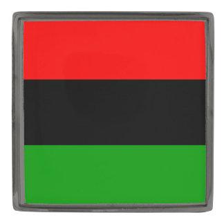 Bronce de cañón africano de la bandera de la insignia metalizada
